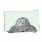 Army Black Knights Metal Business Card Holder with Pewter Accent