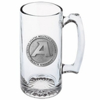 Army Black Knights Pewter Accent Glass Super Beer Mug