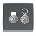 Army Black Knights Pewter Accent Money Clip & Key Chain Gift Set