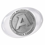 Army Black Knights Pewter Accent Paperweight