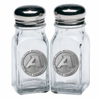 Army Black Knights Pewter Accent Salt & Pepper Shakers