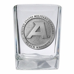 Army Black Knights Pewter Accent Shot Glasses, Set of 4