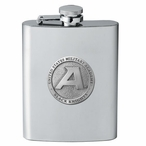 Army Black Knights Stainless Steel Flask with Pewter Accent