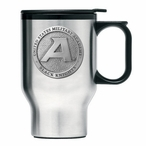 Army Black Knights Stainless Steel Travel Mug with Handle & Pewter