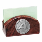 Army Black Knights Wood Business Card Holder with Pewter Accent