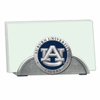 Auburn Tigers Blue Metal Business Card Holder with Pewter Accent