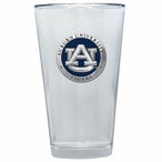 Auburn Tigers Blue Pewter Accent Pint Beer Glasses, Set of 2