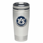 Auburn Tigers Blue Stainless Steel Travel Mug with Pewter Accent