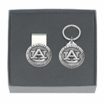 Auburn Tigers Pewter Accent Money Clip & Key Chain Gift Set