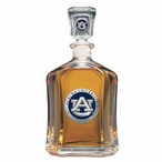 Auburn University Tigers Blue Capitol Glass Decanter w/ Pewter Accents