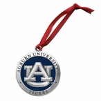 Auburn University Tigers Blue Pewter Accent Ornaments, Set of 2