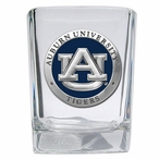 Auburn University Tigers Blue Pewter Accent Shot Glasses, Set of 4