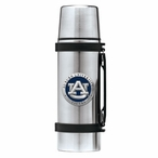 Auburn University Tigers Blue Pewter Accent Stainless Steel Thermos