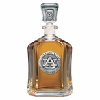 Auburn University Tigers Capitol Glass Decanter with Pewter Accents
