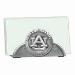 Auburn University Tigers Metal Business Card Holder with Pewter Accent