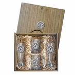 Auburn University Tigers Pewter Accent Beer Box Set