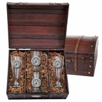 Auburn University Tigers Pewter Accent Beer Chest Box Set