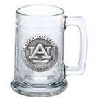 Auburn University Tigers Pewter Accent Glass Beer Mug