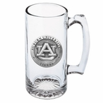 Auburn University Tigers Pewter Accent Glass Super Beer Mug