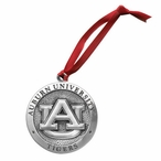 Auburn University Tigers Pewter Accent Ornaments, Set of 2