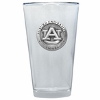 Auburn University Tigers Pewter Accent Pint Beer Glasses, Set of 2