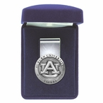 Auburn University Tigers Pewter Accent Steel Money Clip