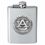 Auburn University Tigers Stainless Steel Flask with Pewter Accent