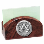 Auburn University Tigers Wood Business Card Holder with Pewter Accent