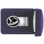 Bats Black Steel Money Clip with Pewter Accent