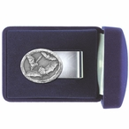 Bats Steel Money Clip with Pewter Accent