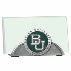 Baylor Bears Green Metal Business Card Holder with Pewter Accent