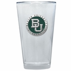 Baylor Bears Green Pewter Accent Pint Beer Glasses, Set of 2