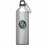 Baylor Bears Green Pewter Accent Stainless Steel Water Bottle