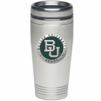 Baylor Bears Green Stainless Steel Travel Mug with Pewter Accent