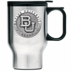 Baylor Bears Stainless Steel Travel Mug with Handle & Pewter Accent