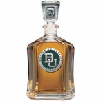 Baylor University Bears Green Capitol Glass Decanter w/ Pewter Accents