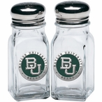 Baylor University Bears Green Pewter Accent Salt & Pepper Shakers