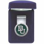 Baylor University Bears Green Pewter Accent Steel Money Clip