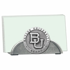 Baylor University Bears Metal Business Card Holder with Pewter Accent
