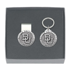 Baylor University Bears Pewter Accent Money Clip & Key Chain Gift Set