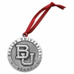 Baylor University Bears Pewter Accent Ornaments, Set of 2