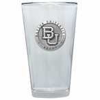Baylor University Bears Pewter Accent Pint Beer Glasses, Set of 2