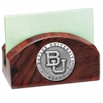 Baylor University Bears Wood Business Card Holder with Pewter Accent