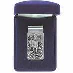Bighorn Sheep Steel Money Clip with Pewter Accent