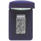 Black Bear Steel Money Clip with Pewter Accent