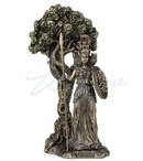 Bronze Athena Standing Under a Sacred Olive Tree Sculpture