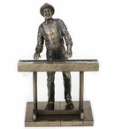 Bronze Jazz Keyboardist Sculpture