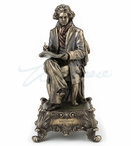 Bronze Ludwig Van Beethoven Sitting Music Box Symphony No.5 Sculpture