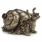 Bronze Steampunk Giant Land Snail Trinket Box