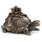 Bronze Steampunk Tortoise Turtle Trinket Box